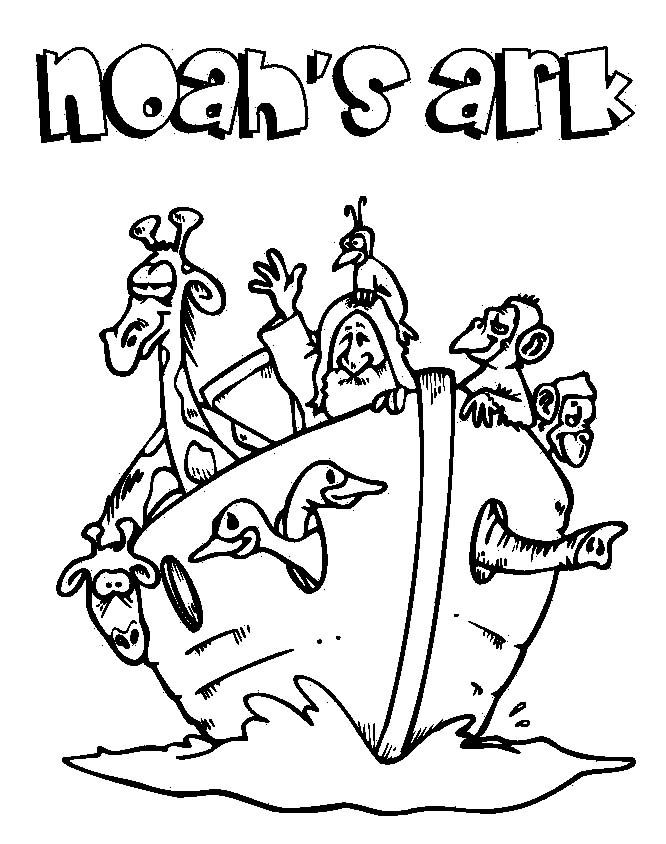 Noas Ark Bible Coloring Pages
