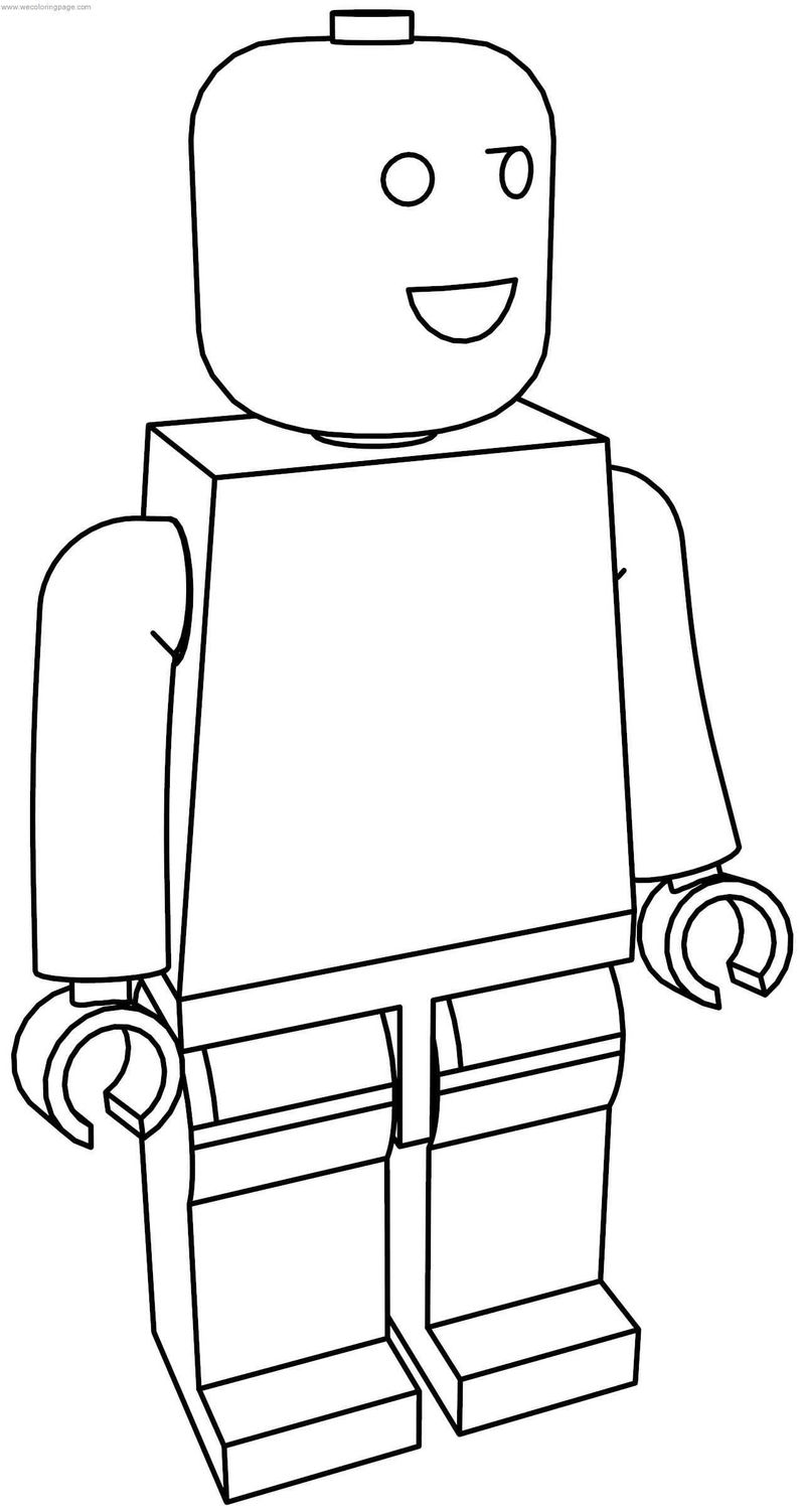 Normal Lego Man Coloring Page
