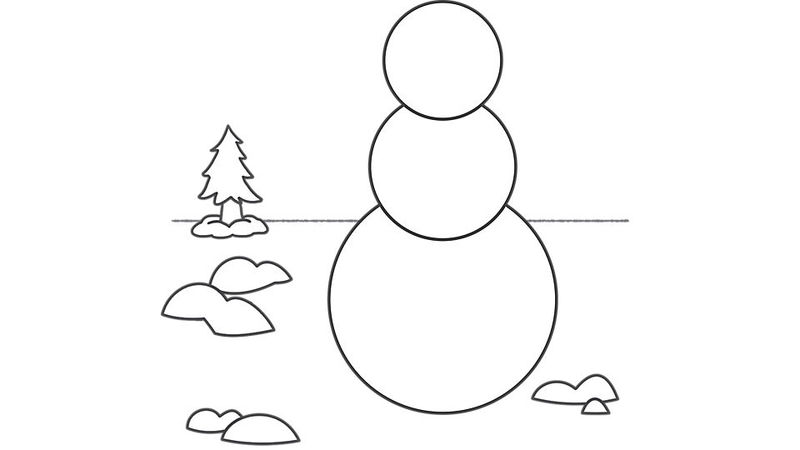 Nowman Outline Template Blank Coloring Page