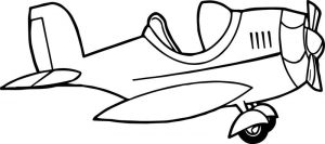 Null airplane coloring page