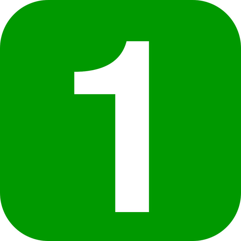 Number 1 Picture Green