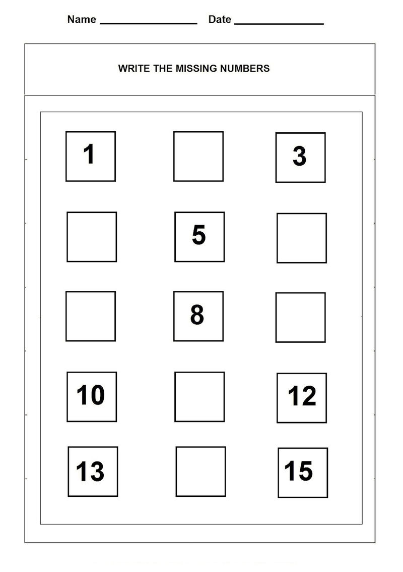 Number 15 Worksheet Counting