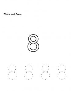 Number 8 worksheets free