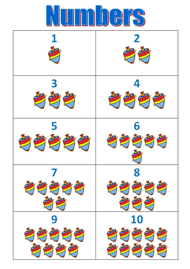 Number Chart 1 10 Simple