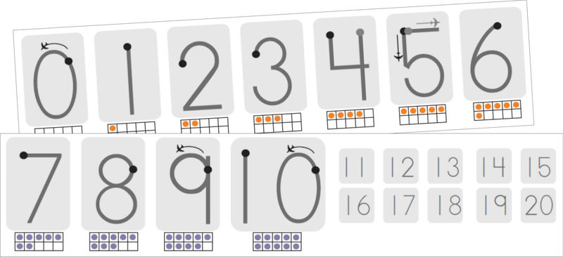 Number Chart 1 20 Template