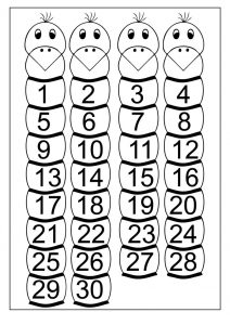 Number chart 1 30 printable