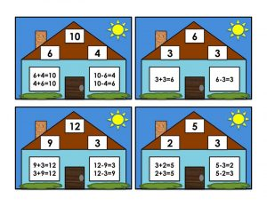 Number family worksheets addition