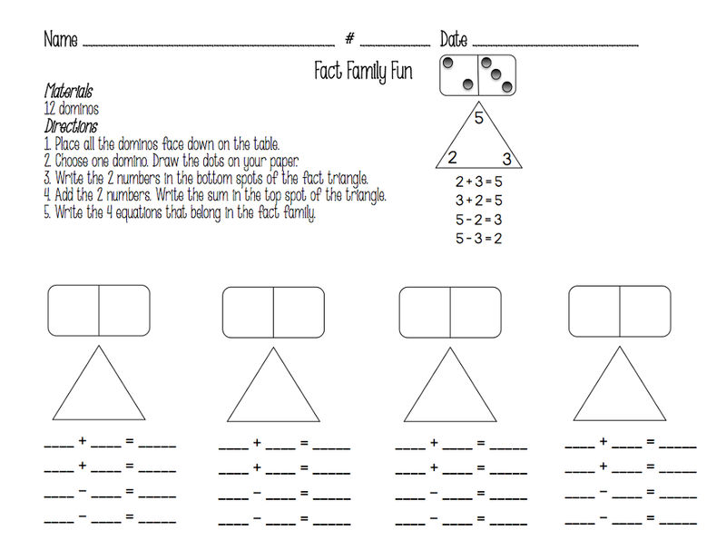 Number Family Worksheets Fun