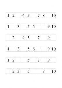 Numbers 1 10 worksheet printable 001