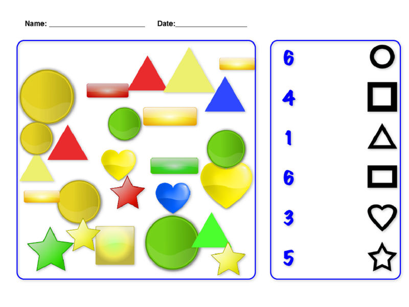Numbers And Shapes For Kindergarten