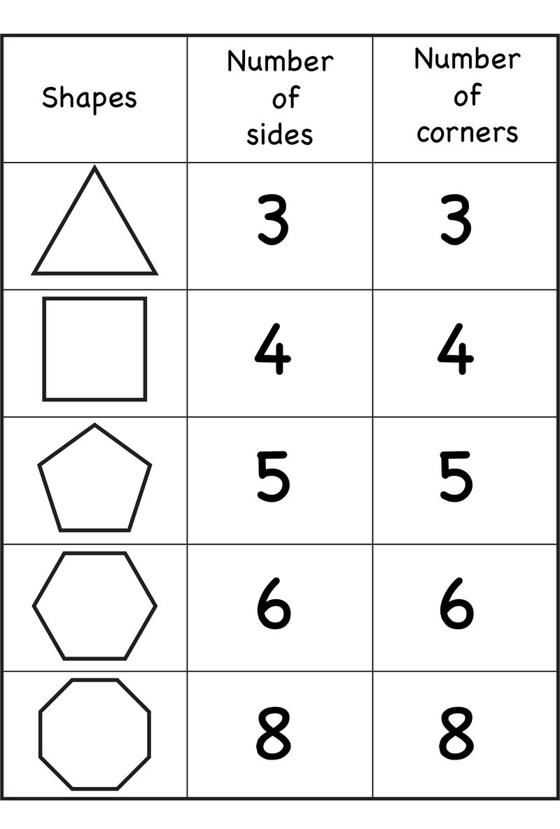 Numbers And Shapes Printable
