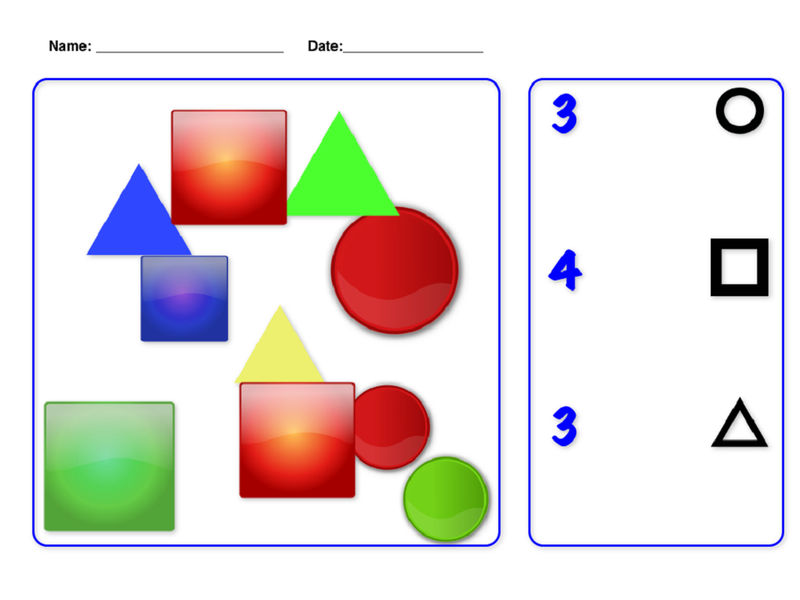 Numbers And Shapes Worksheet
