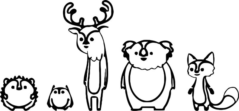 Nws Forestfriends Design Cartoonize Coloring Page