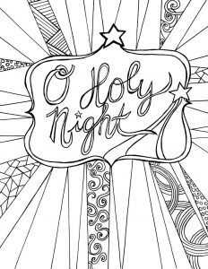O holy night christmas coloring pages