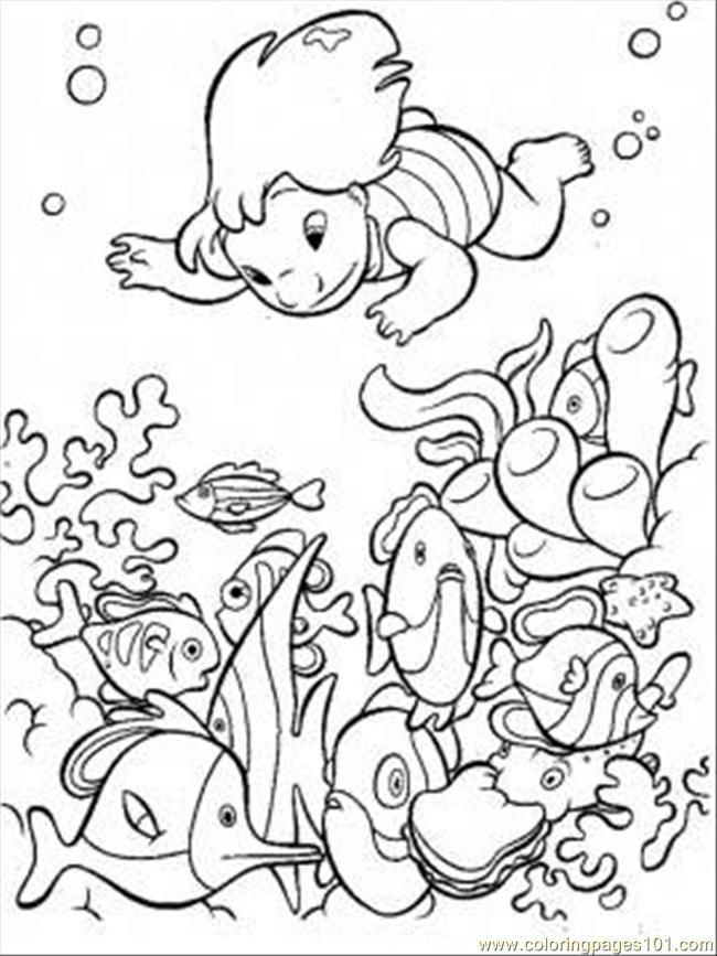 Ocean Coloring Pages For Kids Printable 001
