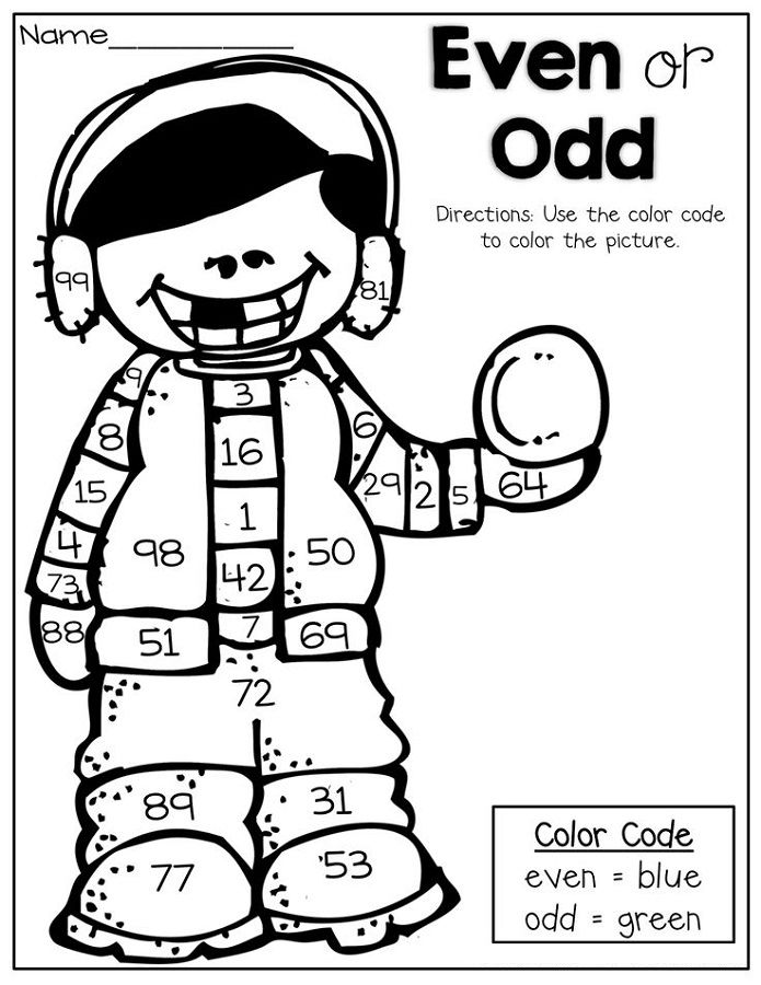 Odd And Even Worksheet Coloring