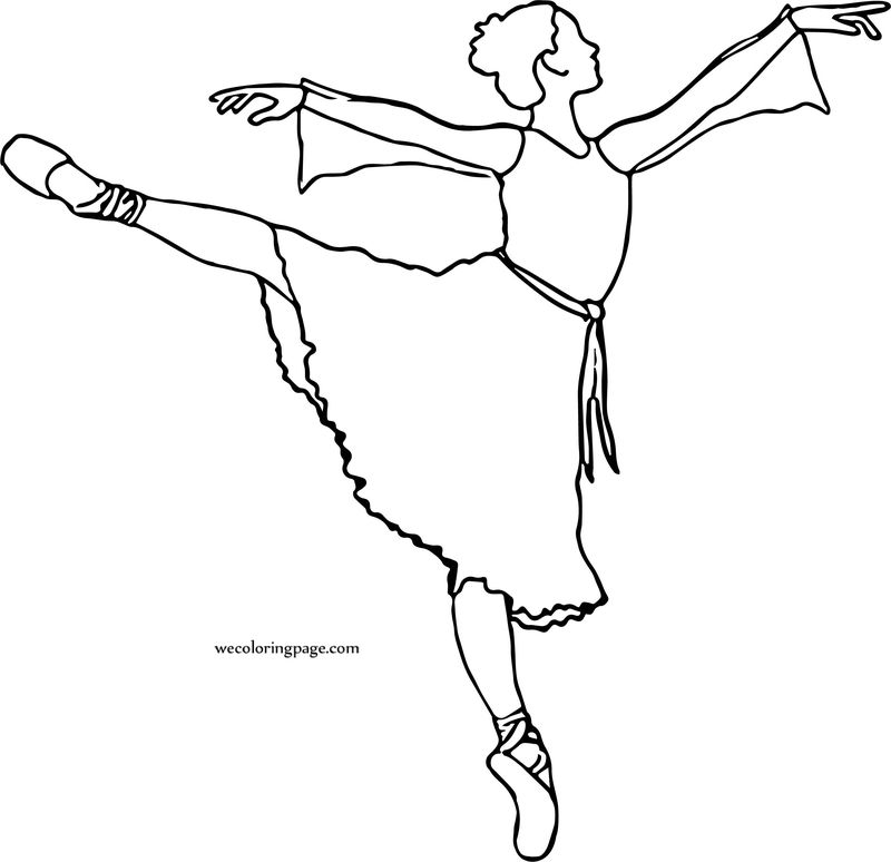 Of Ballerina Girl Coloring Page