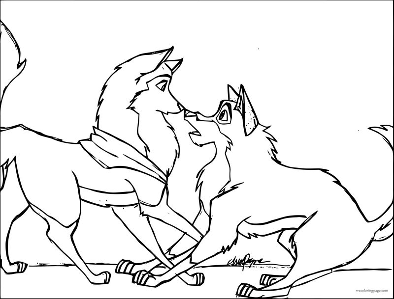 Oh Balto Wolf Coloring Page