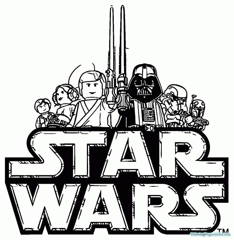 Old School Lego Star Wars Coloring Pages