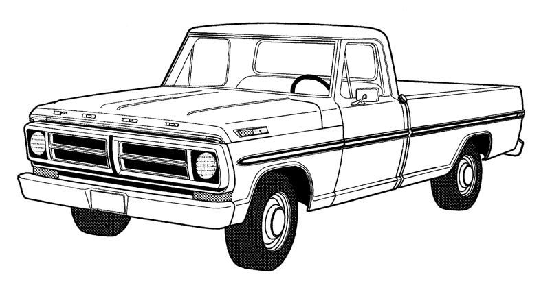 Old Truck Coloring Page 1