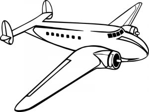 Older propeller passenger airplane printable coloring page