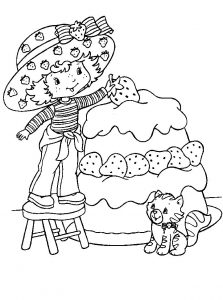Oldschool strawberry shortcake coloring pages 001