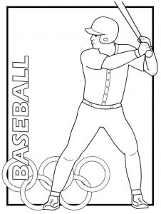 Olympic rio 2016 baseball Coloring Pages