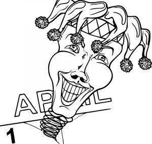 One april fool fail face coloring page