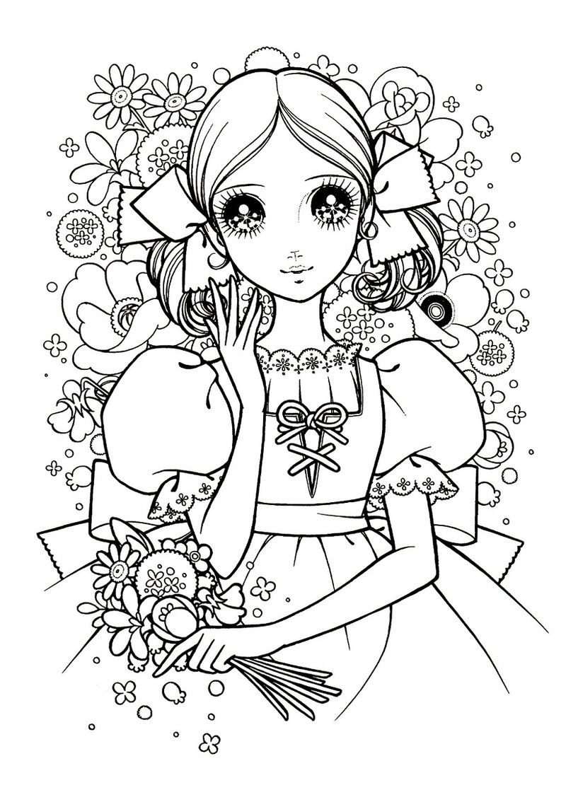 Online Coloring Pages For Kids Anime Coloring Sheets