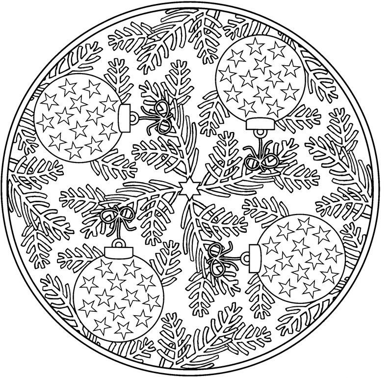 Ornament Mandala Winter Coloring Pages For Adults