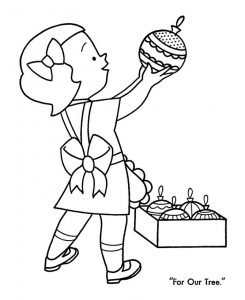Ornaments for our christmas tree coloring pages