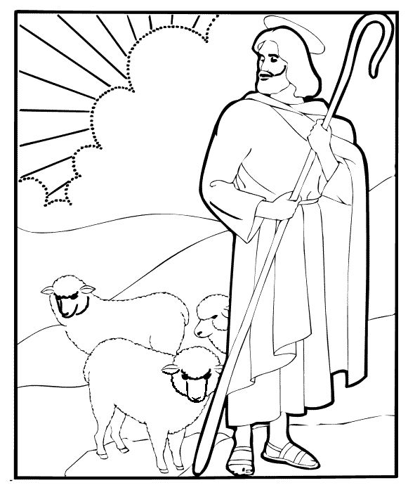 Our Sheperd Religious Easter Coloring Pages