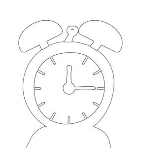 Outline alarm clo free printable ck cartoonized free printable coloring page