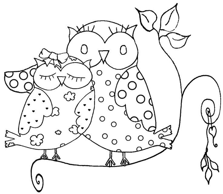 Owl Coloring Pages For Adult Printable