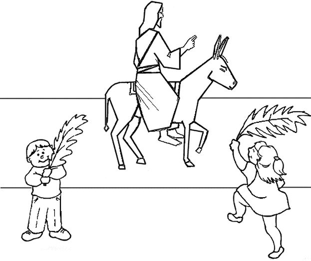 Palm Sunday Coloring Pages Free Printable