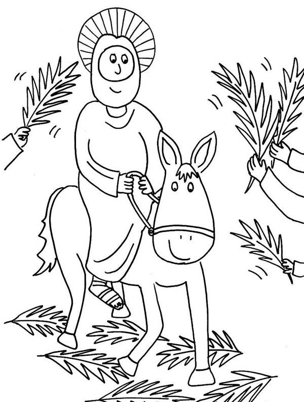Palm Sunday Coloring Pages Printable