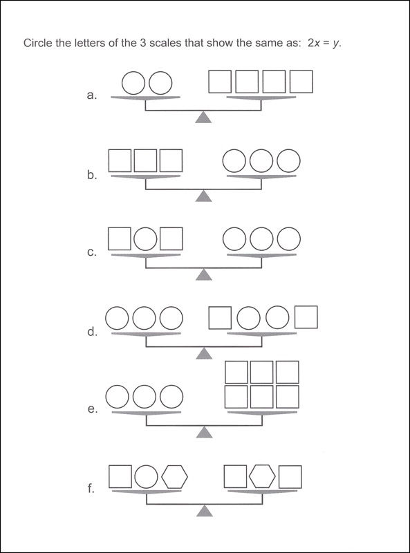 Pan Balance Worksheets Shape
