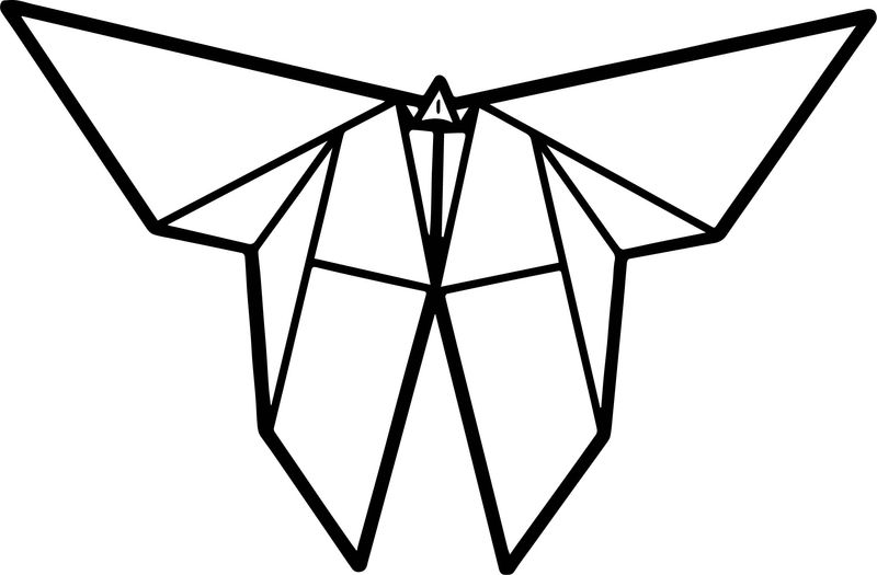 Paper Butterfly Coloring Page