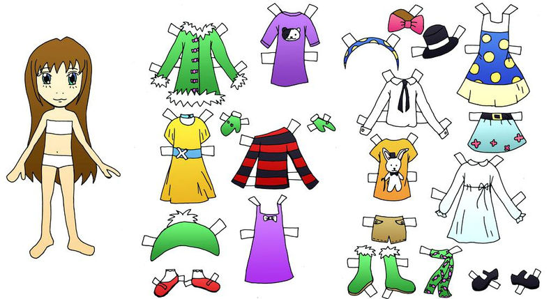 Paper Doll Template Girl