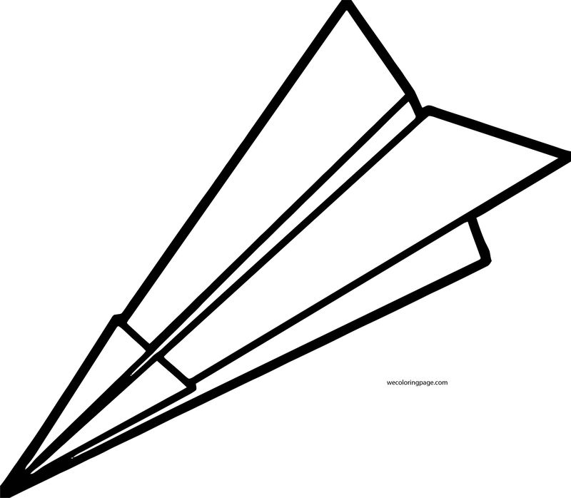 Paper Plane Coloring Page