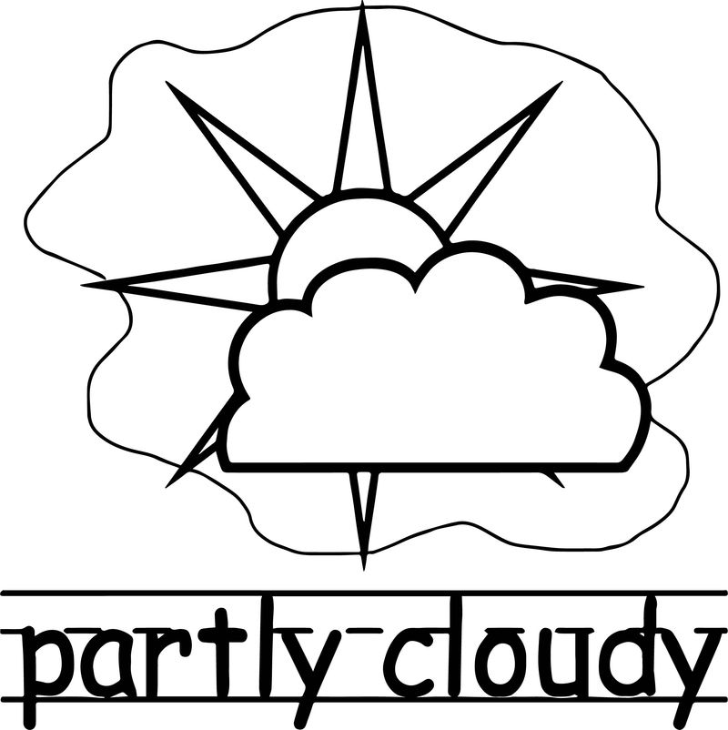 Partly Coudy Abc Teach Coloring Page