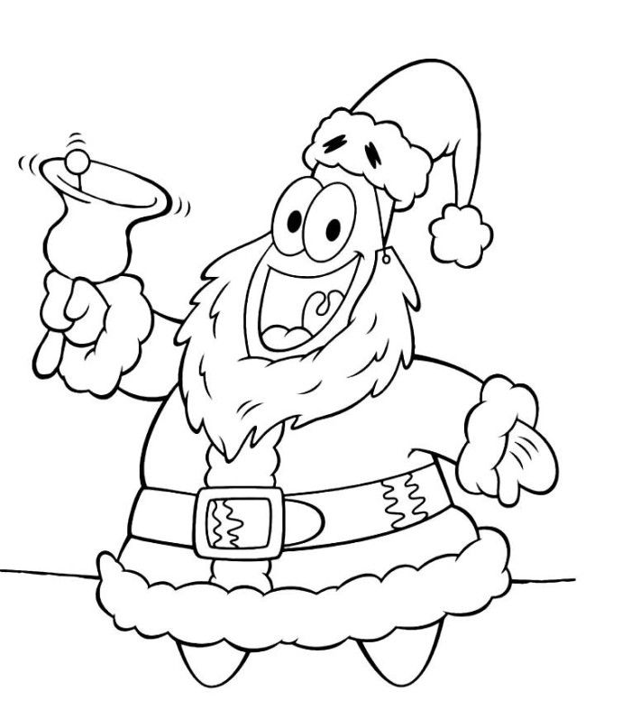 Patrick Christmas Coloring Pages