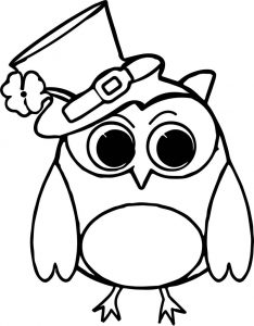 Patrick owl bird all saint day coloring page