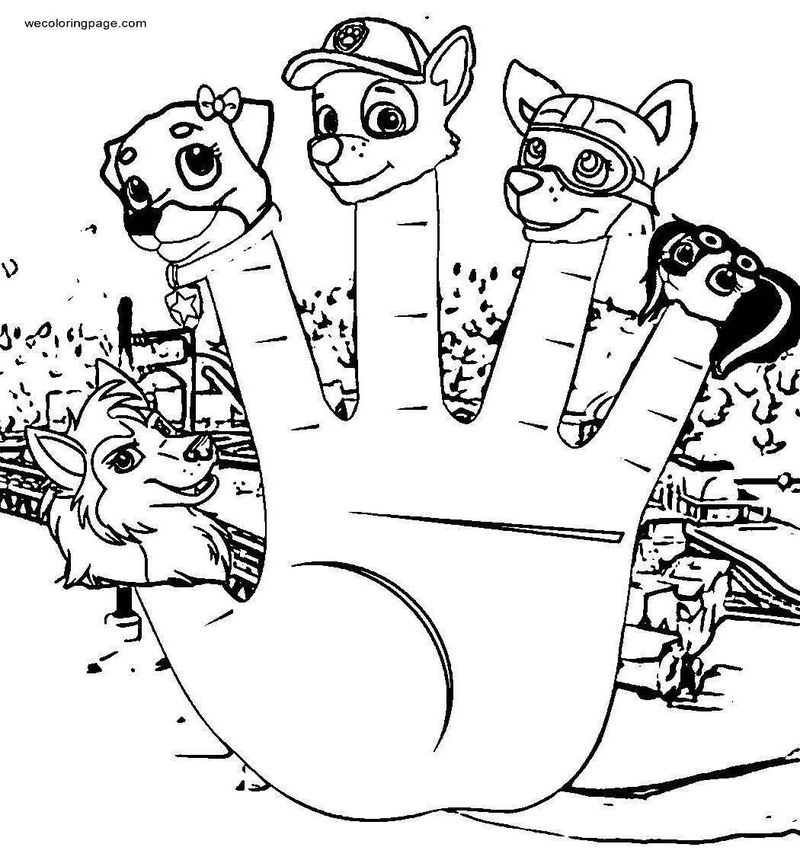 Paw Patrol Finger Family Coloring Page