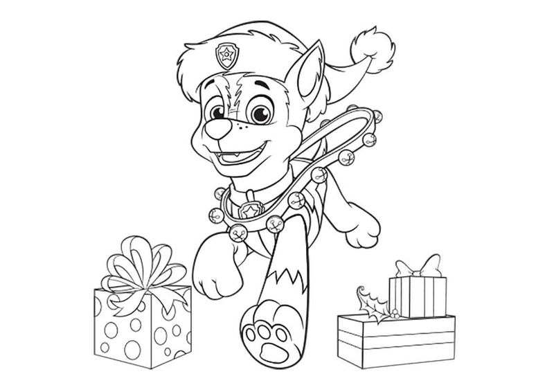 Paw Patrol Holiday Coloring Pages