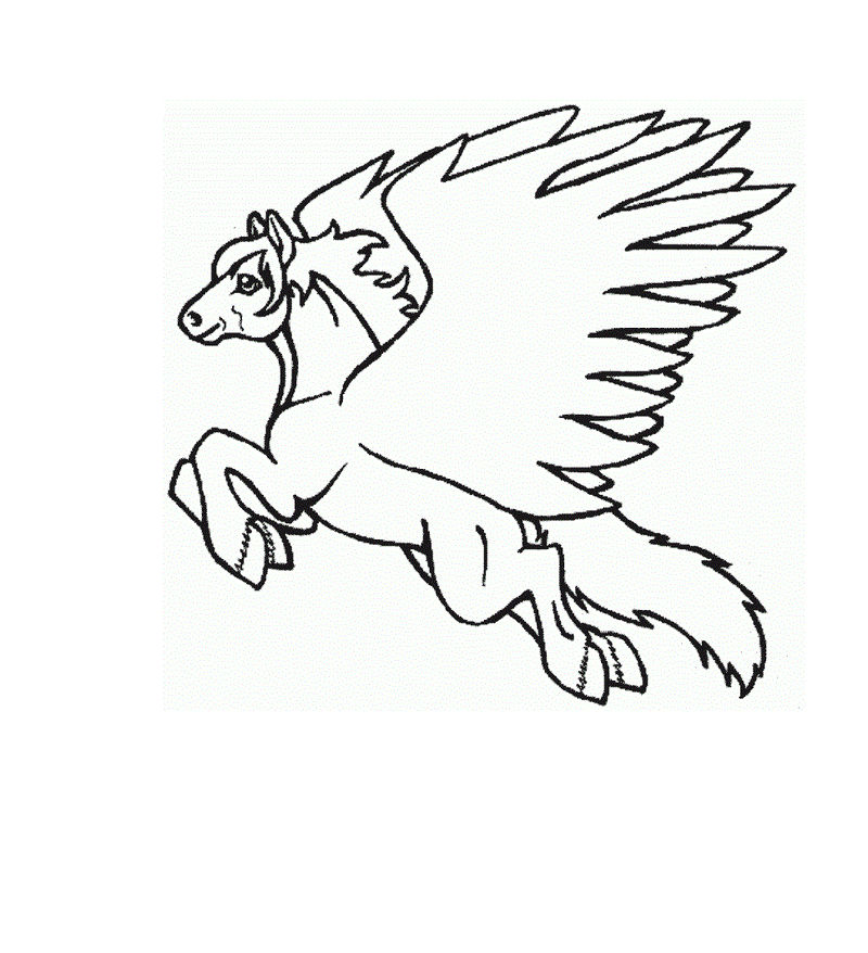 Pegasus Coloring Pages For Kids 001