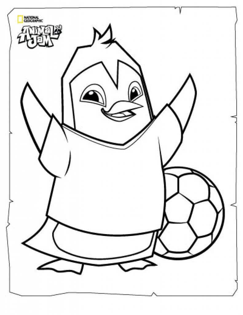 Penguin Animal Jam Coloring Pages
