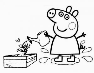 Peppa pig coloring book printable