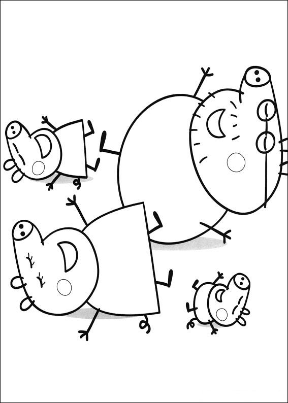 Peppa Pig Coloring Pages 001
