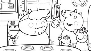 Peppa pig family printable coloring pages